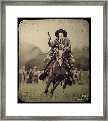 Texican Cavalry Framed Print
