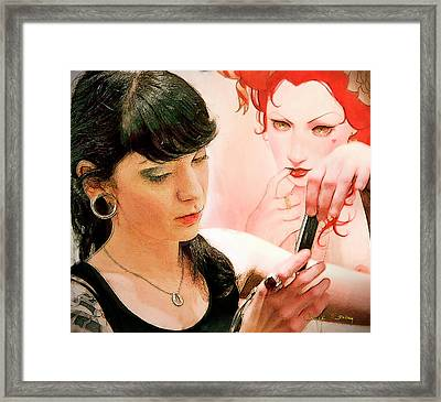 Text Message Framed Print by Chuck Staley