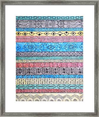 Framed Print featuring the painting Textile #1 by Rebecca Davis
