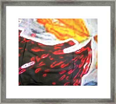 Textile Art Framed Print by Duygu Kivanc