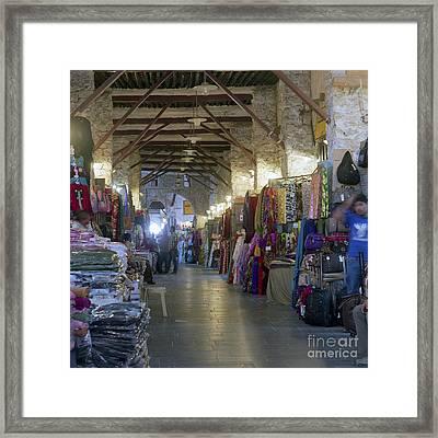 Textile Bazaar Framed Print by Paul Cowan