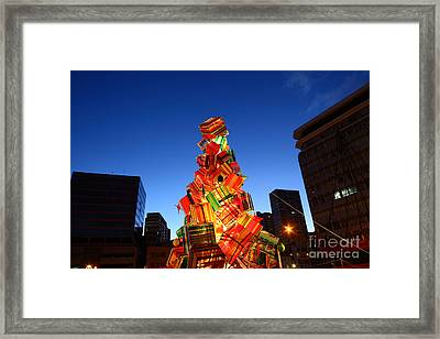 Textile Christmas Tree In La Paz Framed Print by James Brunker
