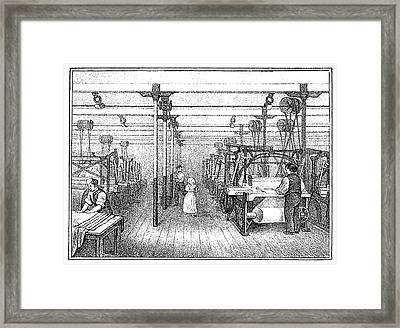 Textile Manufacture, C1836 Framed Print by Granger