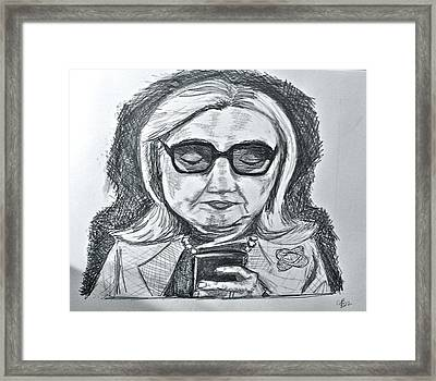 Texts From Hillary Framed Print