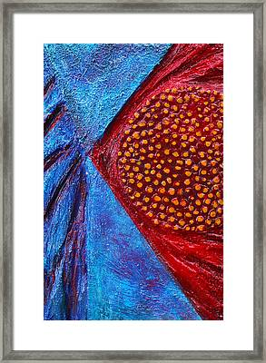 Texture And Color Bas-relief Sculpture #1 Framed Print by Karen Cade
