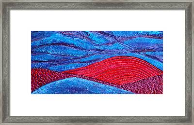 Texture And Color Bas-relief Sculpture #2 Framed Print