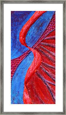 Texture And Color Bas-relief Sculpture #3 Framed Print by Karen Cade