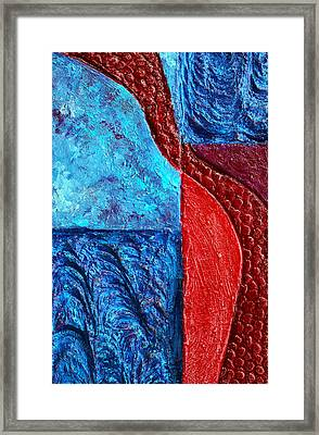 Texture And Color Bas-relief Sculpture #4 Framed Print by Karen Cade