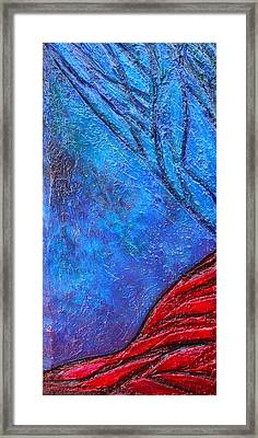 Texture And Color Bas-relief Sculpture #5 Framed Print