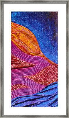 Texture And Color Bas-relief Sculpture #6 Framed Print