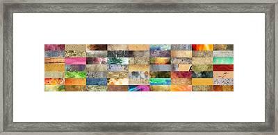 Texture Collage Framed Print by Taylan Apukovska