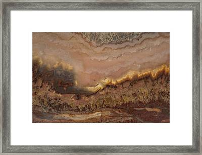 Texture Of Stone Framed Print by Leland D Howard
