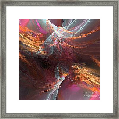 Framed Print featuring the digital art Texture Splash by Margie Chapman