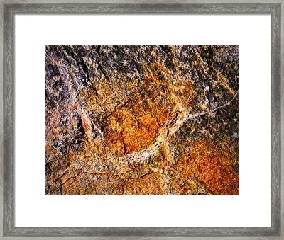 Texture Stone Plate Framed Print by Jozef Jankola