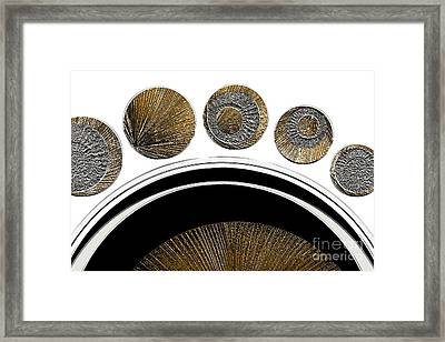 Textured Abstract 2 - Unexplained Framed Print