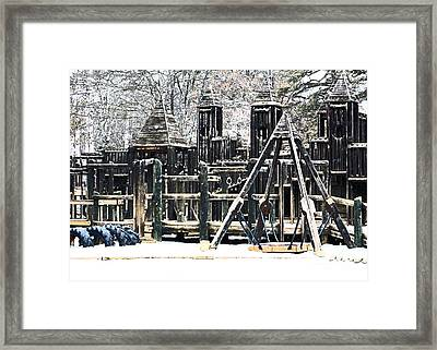 Framed Print featuring the photograph Textured Children Will Play by Gena Weiser