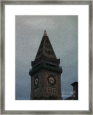 Framed Print featuring the photograph Textured Church Steeple  by Gena Weiser