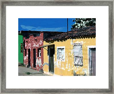 Textured - City In Mexico Framed Print