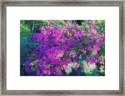 Textured Floral Abstract Framed Print by Linda Phelps