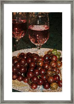Textured Grapes Framed Print