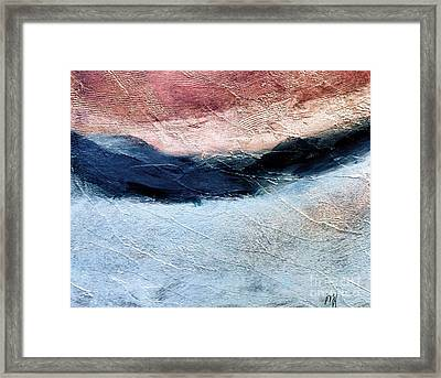 Textured Landscape Abstract Framed Print