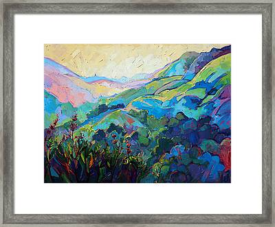 Textured Light Framed Print by Erin Hanson