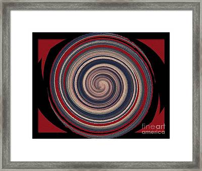 Framed Print featuring the digital art Textured Matt Finish by Catherine Lott