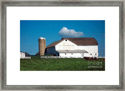 Framed Print featuring the photograph Textured - Plowing The Field by Gena Weiser