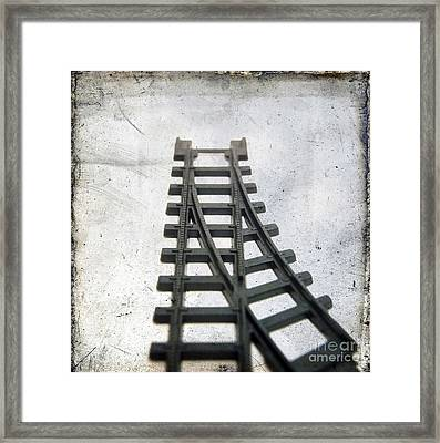Textured Railway Framed Print by Bernard Jaubert