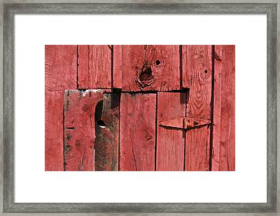 Textured Red Barn Wall Framed Print