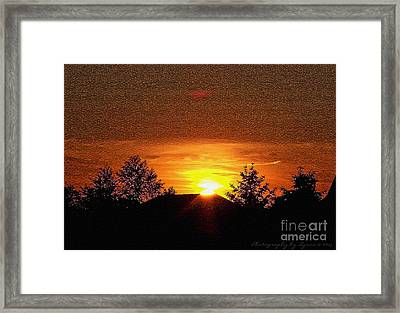 Framed Print featuring the photograph Textured Rural Sunset by Gena Weiser