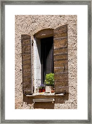 Textured Shutters Framed Print by Bob Phillips