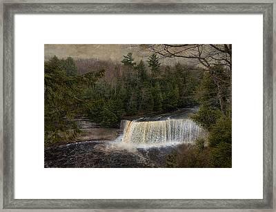 Textured Tahquamenon River Michigan Framed Print