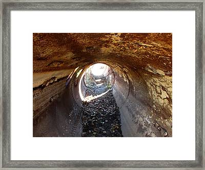 Textured Tunnel Framed Print by Kimberly Mackowski
