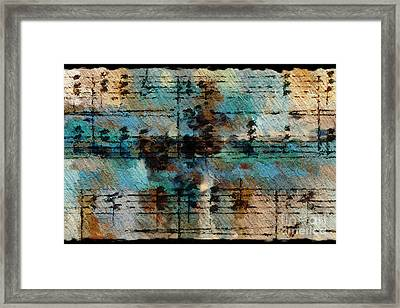 Framed Print featuring the digital art Textured Turquoise by Lon Chaffin