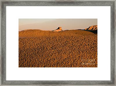 Textures In The Bisti Wilderness Framed Print by Vivian Christopher
