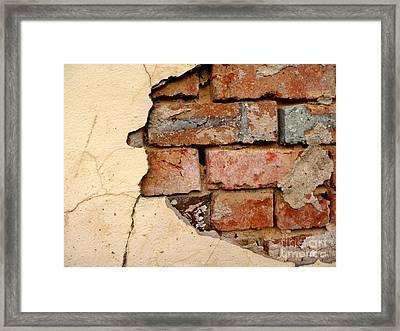 Textures Of Disrepair Framed Print