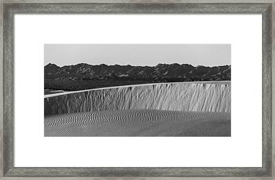 Textures Of Dune Framed Print by Peter Tellone