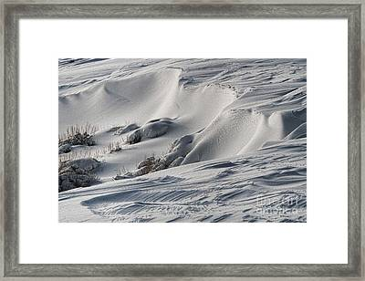 Textures Of Snow Framed Print