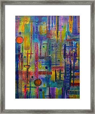 Texural Framed Print by Moon Stumpp