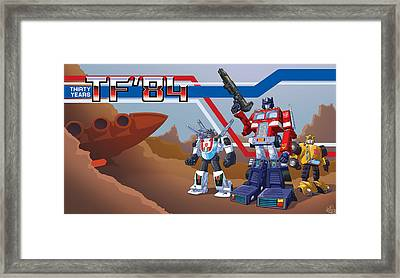 Tf'30 'toon Edition Framed Print by Otha Lohse
