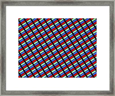 Tft Lcd Display Framed Print by Alfred Pasieka