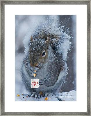 Tgif With A Cup Of Coffee Framed Print