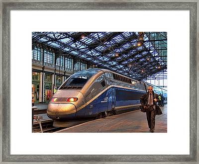Tgv At The Train Station  Framed Print by Paris  France