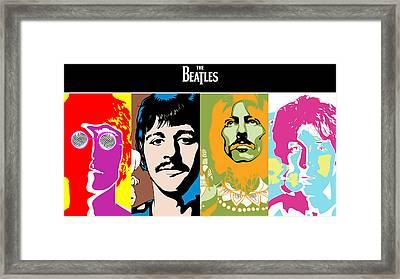 The Beatles Framed Print by Kenneth A Mc Williams