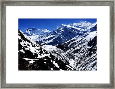 The Annapurna Circuit - The Himalayas Framed Print