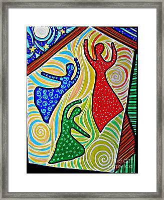 The Barn Dancers Framed Print