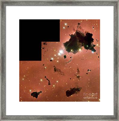 Thackerays Globules In Ic 2944 Framed Print by Science Source