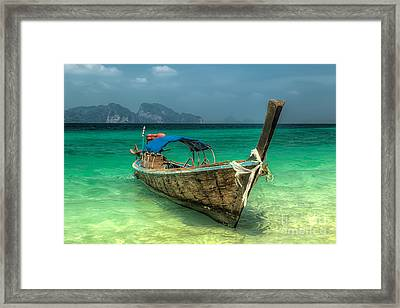 Thai Boat  Framed Print by Adrian Evans