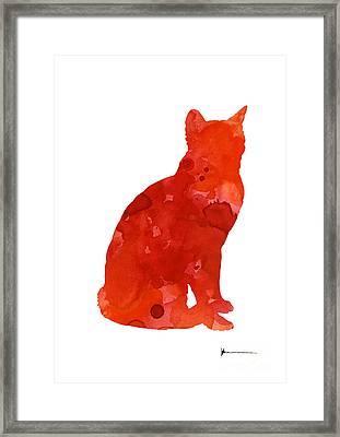 Thai Cat Wall Decor For Sale Framed Print by Joanna Szmerdt